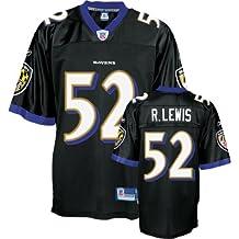 Ray Lewis Baltimore Ravens Alternate Black Reebok Premier Jersey