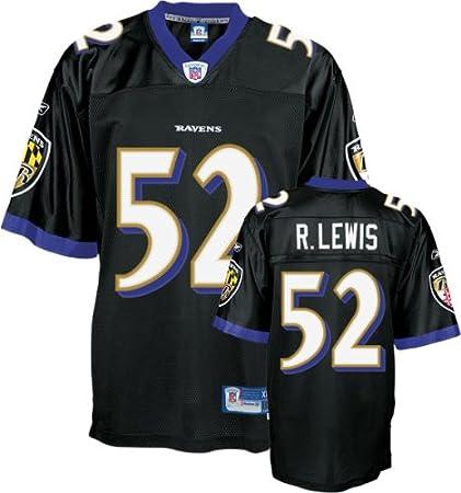 Ray Lewis Baltimore Ravens Alternate Black Reebok Premier Jersey ...