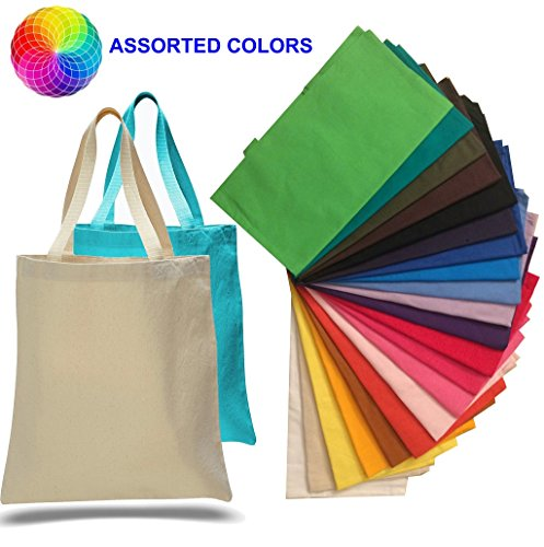 (12 Pack) 1 Dozen - Promotional Canvas Tote Bags by ToteBagFactory (Canvas Promotional Bags Tote)