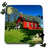 Danita Delimont - Jaynes Gallery - Schools - USA, Oregon, Viola. Traditional one-room schoolhouse. - 10x10 Inch Puzzle (pzl_190940_2)