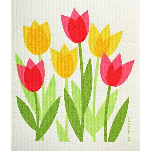 ScandinavianShoppe Swedish Dishcloth - Tulip Field