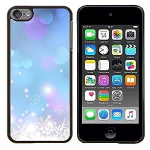 Flocon de neige bleu de Noël - Metal de aluminio y de plástico duro Caja del teléfono - Negro - iPod Touch 6