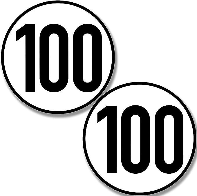 Kavaro 100 Kmh Aufkleber Für Hänger Wohnwagen Usw 20cm Nach Din 1451 Auto