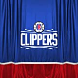 NBA Los Angeles Clippers Shower Curtain, 72 x 72, Bright Blue