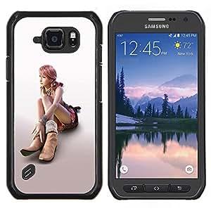 /Skull Market/ - Sexy Girl For Samsung Galaxy S6 active/G870A/G890A (Not Fit S6) - Mano cubierta de la caja pintada de encargo de lujo -