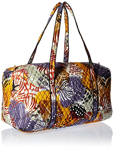 Women's Large Duffel, Signature Cotton, Painted Feathers by Vera Bradley (Image #2)