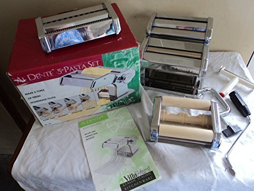 VillaWare Al Dente 5-Pasta Maker Set - Pasta Machine Villaware