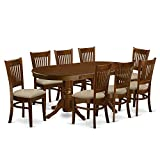 East West Furniture VANC9-ESP-C 9-Piece Dining Table Set