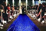 ShinyBeauty Wedding Aisle Runner-Royal Blue-55FTX4FT, Sparkle Aisle Runner Glitter Wedding Carpet Runner,Glam Wedding Sequin Decorations (Royal Blue)