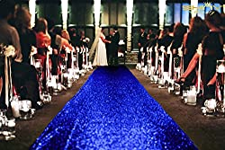 Royalblue Glittering Sequin Carpet Runner