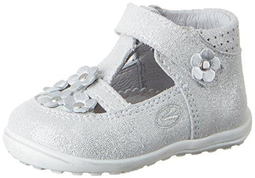 Richter Kinderschuhe Mini - Zapatillas de casa Bebé-Niños Weiß (panna/silver)
