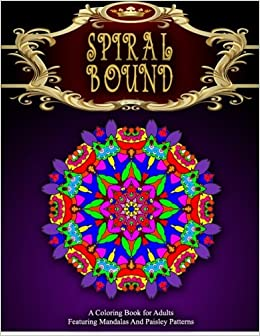 SPIRAL BOUND MANDALA COLORING BOOK
