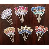 SHIMMER AND SHINE CUPCAKE TOPPERS BIRTHDAY PARTY SUPPLIES SET OF 24
