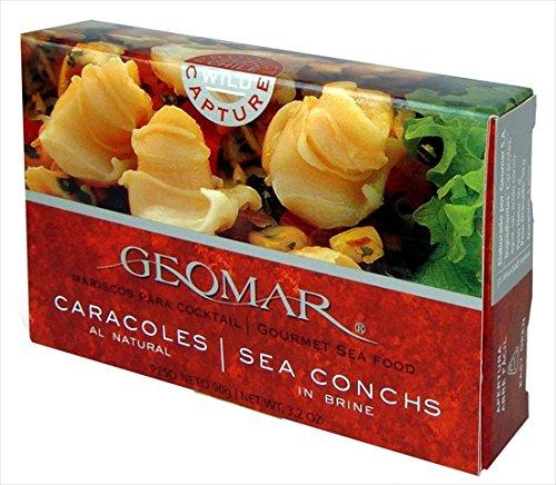 GEOMAR SEAFOOD SEA CONCH IN BRINE, 3.2 OZ