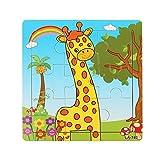 GOTD Giraffe 9-Piece Wooden Jigsaw Puzzle