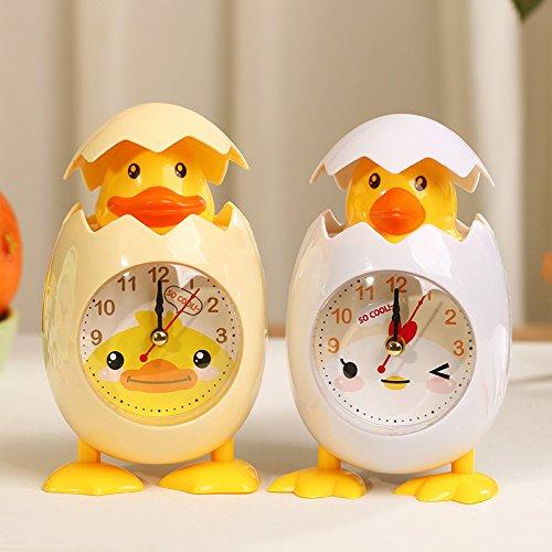 WarmFemme Creative  ly Décoration de Cadeau Nouveauté Nouveauté Nouveauté Réveil de Dessin animé Poulet Oeuf Shell Desktop Alarm Clock (Blanc) | La Qualité Des Produits  af9753