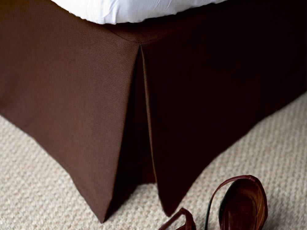 Delamaison Cache-sommier 100% Coton 220gr/m2 Chocolat 160x200cm ALACASA
