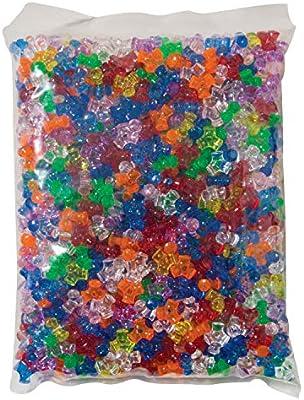0.43 in Creativity Street Plastic 3-Sided Tri-Bead Assortment Assorted