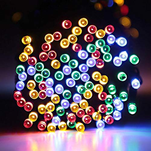 Glumes Solar Fairy String Lights 120 LED Outdoor Sensor Waterproof Solar Powered 2 Modes with Automatic Sensor Decorative Lighting for Patio Xmas Garden Homes Party Decore from Glumes