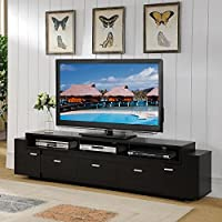Furniture of America 84-inch Peyton Modern-tiered TV Stand Cappuccino