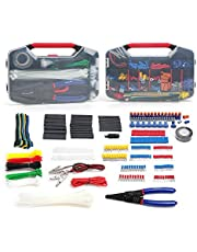 WORKPRO 582-piece Electrical Connector Kit, Electrical Wire Connector Crimping Terminal Tool, Heat Shrink Tube, Electrical Repair Kit with Wire Cutter Stripper
