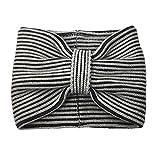 Kate Spade Plaited Rib Striped Neckwarmer, Grey Melage/Black