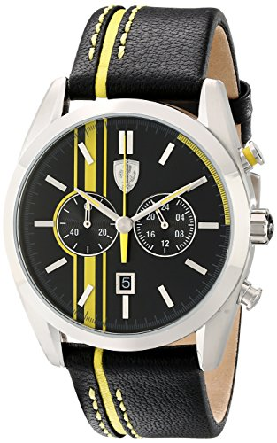 Ferrari Men's 830235 D 50 Analog Display Japanese Quartz Black Watch