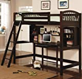 Inland Empire Furniture Cole Cappuccino Solid Wood Casual Twin Workstation Loft
