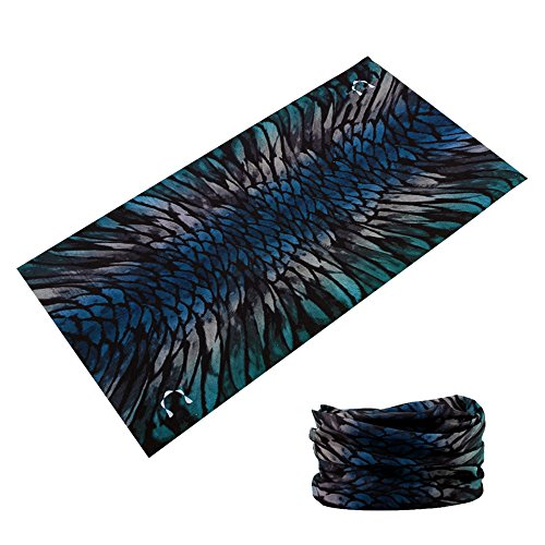 GOT 16-in-1 Headband - Multifunctional Microfiber Sports Headwear - Cycling, Running, Yoga, Fishing, Fashion - Breathable, Moisture Wicking - Works as Scarf, Dust Mask, Neck Gaiter (Abstract Wing)