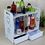 FLHSLY Cosmetic Storage Shelf Waterproof Bathroom Storage Shelf Finishing Shelf Wall hanging Support Wall hanging Multifunction Cosmetic case storage