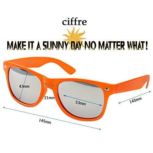Orange sol para de Neon WSO Gafas verspiegelt Ciffre mujer 6BxCqUAwW