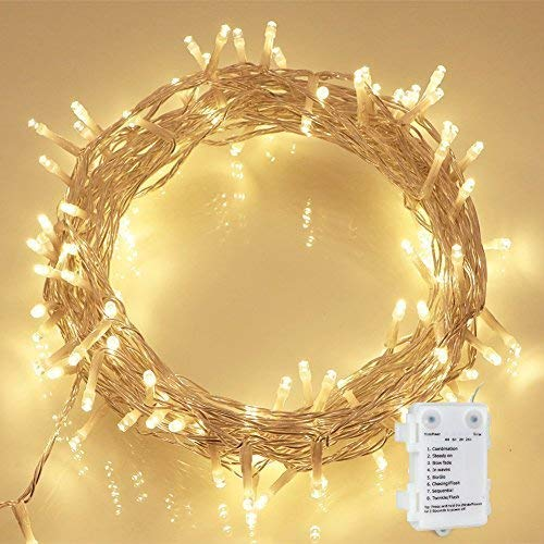 36ft 100LED Battery Waterproof Wire Copper Fairy String