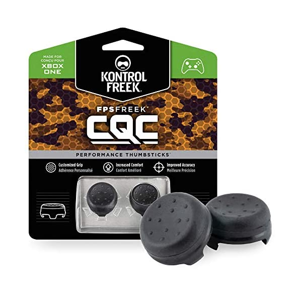 KontrolFreek FPS Freek CQC for Xbox One Controller | Performance Thumbsticks | 2 Mid-Rise Concave | Black 1