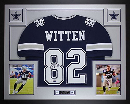 Jason Witten Autographed Blue Cowboys Jersey - Beautifully Matted and Framed - Hand Signed By Jason Witten and Certified Authentic by Auto JSA COA - Includes Certificate of Authenticity