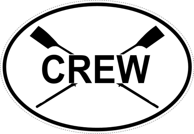 just-row – 楕円形クルーwith Crossed Oars (ウィンドウデカール) 4 x 6マルチ B014TEFBD8  - -
