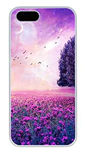 iPhone 5S Cases and Covers,Fairy Dream Nature Custom Slim Hard Case Snap-on PC Plastic Case Cover Shell for Apple iPhone 5S/5 White