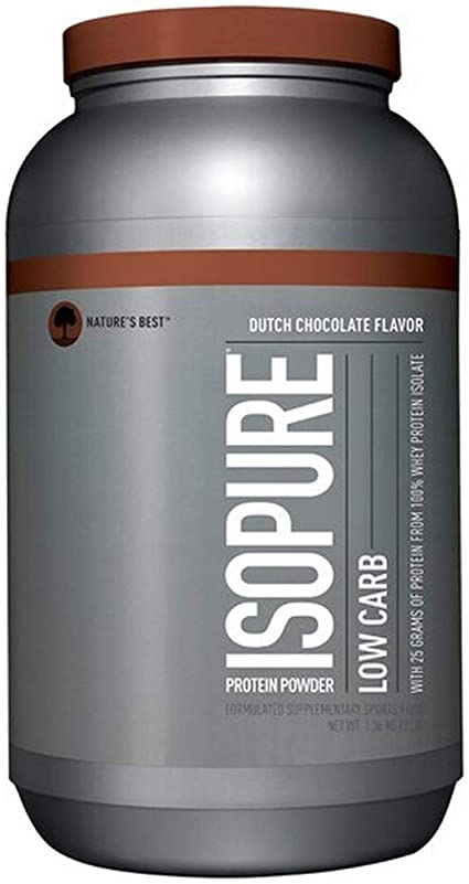 Whey Isopure Low Carb Natures Best - Chocolate - 03lbs