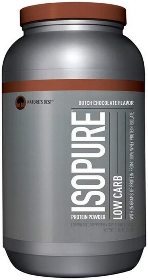 Whey Isopure Low Carb Natures Best - Chocolate - 03lbs por NATURE'S BEST