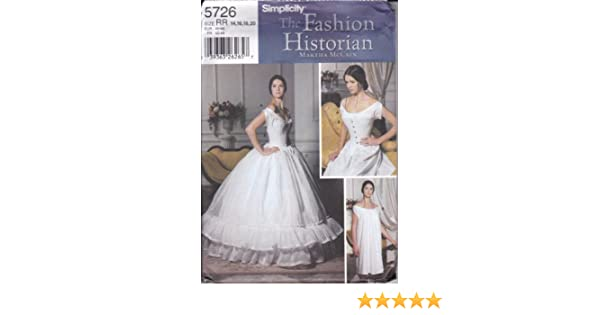 d8fa5803839 Amazon.com  Simplicity Sewing Pattern 5726 Misses  Historical  Undergarments