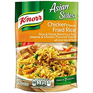 Knorr Asian Sides Rice Side Dish, Chicken Fried Rice 5.7 oz, (Pack of 12)