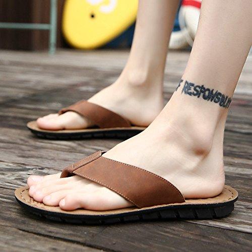 scarpe non uomini casual pantofole fresco e spiaggia marrone da estate personalità di maschio scuro in di colore di outdoor slittamento fankou sandali 40 g7Zqwdx5