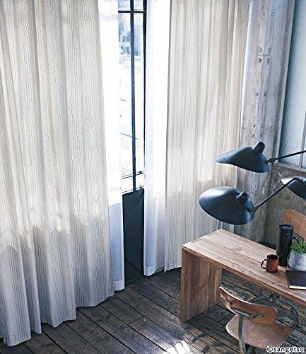 サンゲツ 細線と太線をバランス良く組み合わせたストライプ柄 カーテン2倍ヒダ SC3265 幅:150cm ×丈:290cm (2枚組)オーダーカーテン 290  B0784BLQ5C