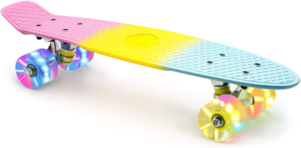 Best skateboard for 5 year old with LED Lights. Skateboard with light in wheel online