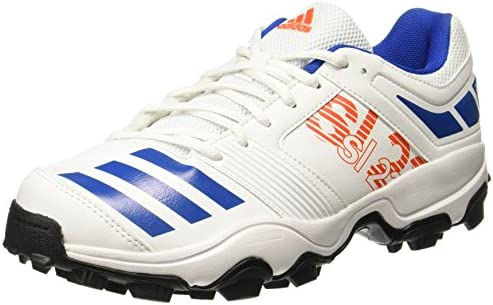half off 27d92 409a1 Adidas Men s Sl22 Trainer 2017 White Energy Blubea Silvm Cricket Shoes - 10