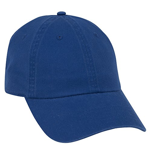 - OTTO Garment Washed Cotton Twill 6 Panel Low Profile Dad Hat - Royal