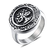 AMDXD Jewelry Men Ring Marriage Stainless Steel Tree of Life Silver Rings Size 11