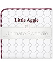 SwaddleDesigns Ultimate Swaddle, X-Large Receiving Blanket, Made in USA Premium Cotton Flannel, Texas A&M University, Little Aggie (Mom's Choice Award Winner)