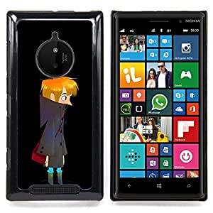 - Dark Night Boy Art Drawing Wandering Lonely - - Snap-On Rugged Hard Cover Case Funny HouseFOR Nokia Lumia 830