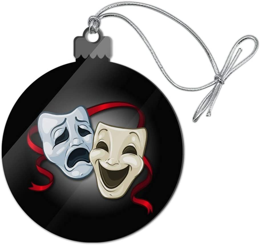 GRAPHICS & MORE Drama Comedy Tragedy Masks Theater Acrylic Christmas Tree Holiday Ornament
