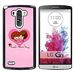 Slim Design Hard PC/Aluminum Shell Case Cover for LG G3 D855 D850 D851 Happy Valentines Day / JUSTGO PHONE PROTECTOR